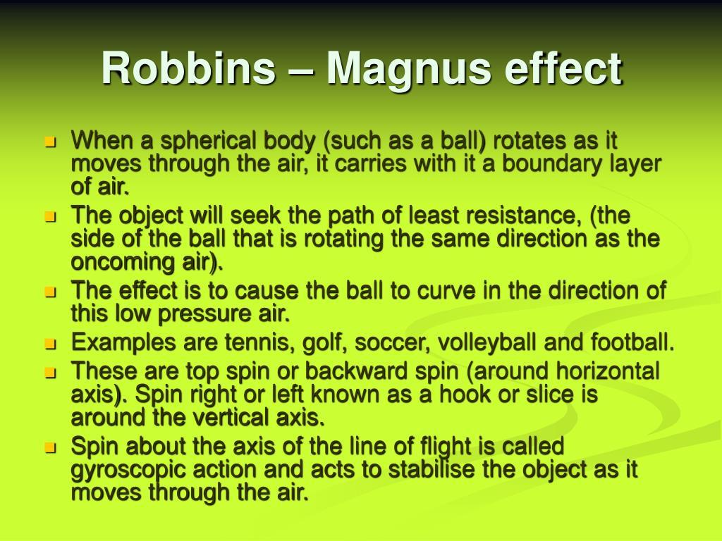 Robbins – Magnus effect