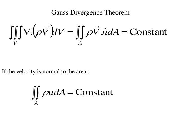 Gauss Divergence Theorem