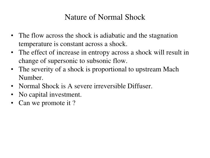 Nature of Normal Shock