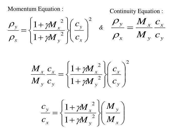 Momentum Equation :