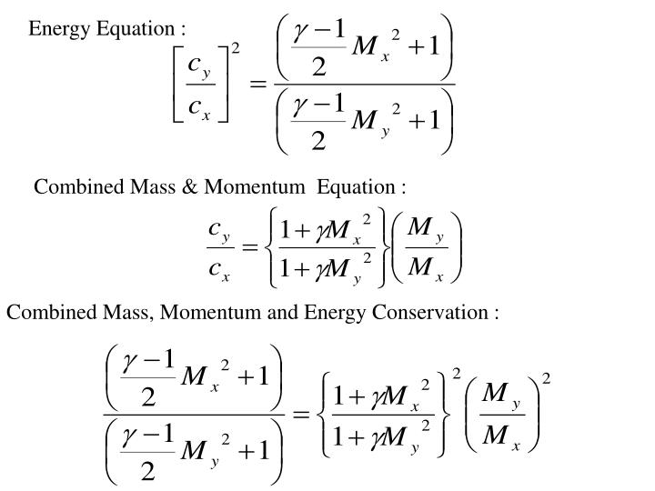 Energy Equation :