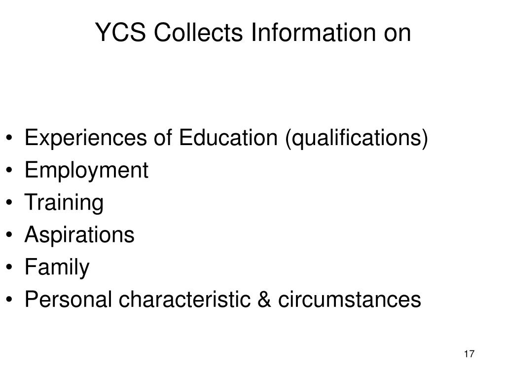 Experiences of Education (qualifications)