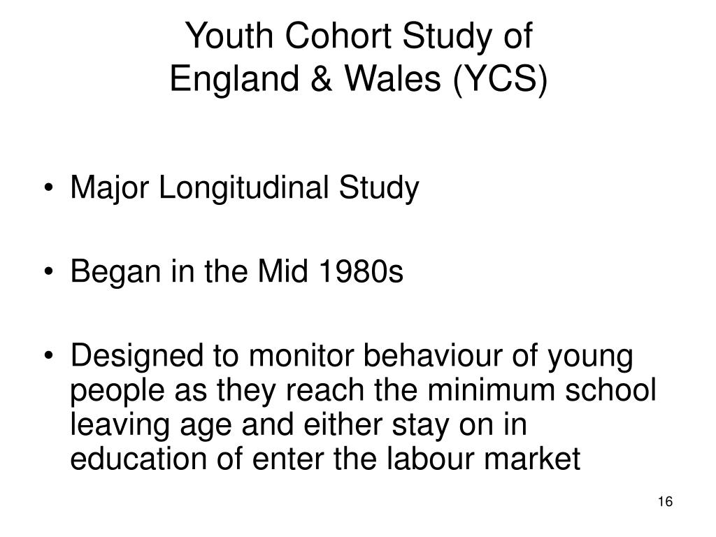 Youth Cohort Study of