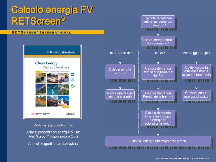 Calcolo energia FV