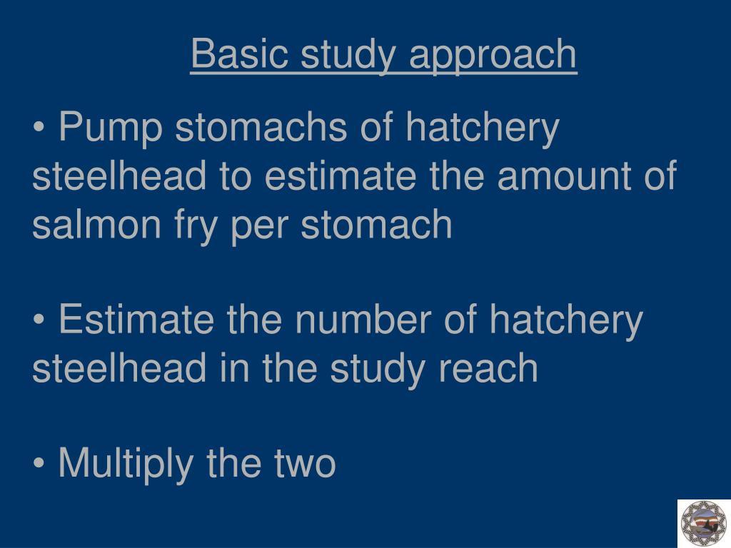 Basic study approach