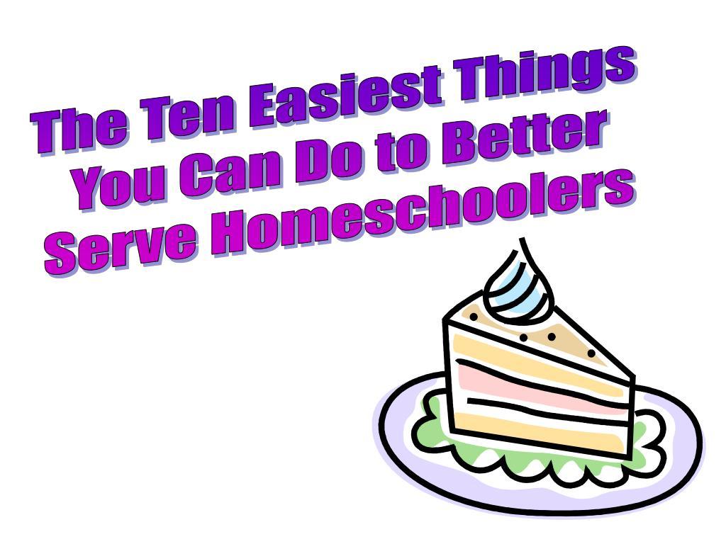 The Ten Easiest Things