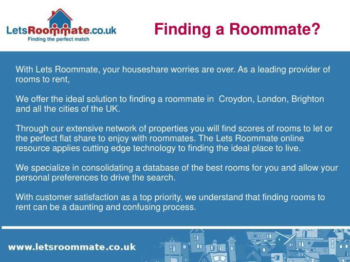 Finding a Roommate?