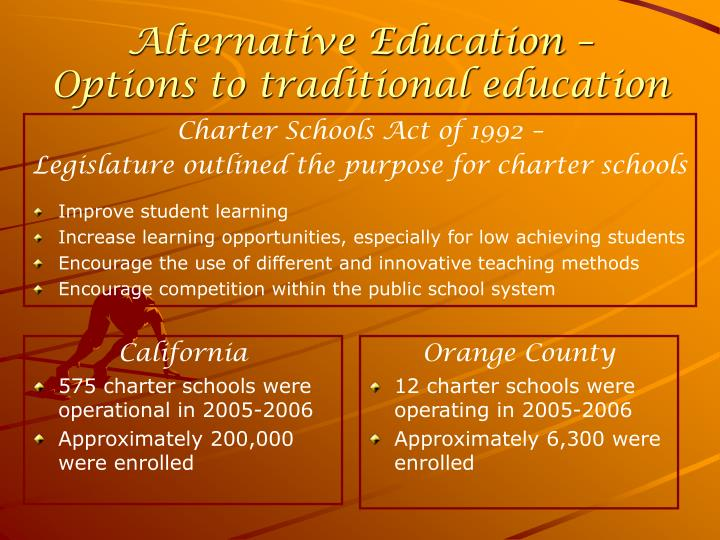 Alternative education options to traditional education