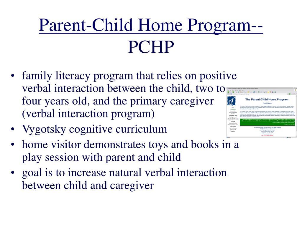 Parent-Child Home Program--
