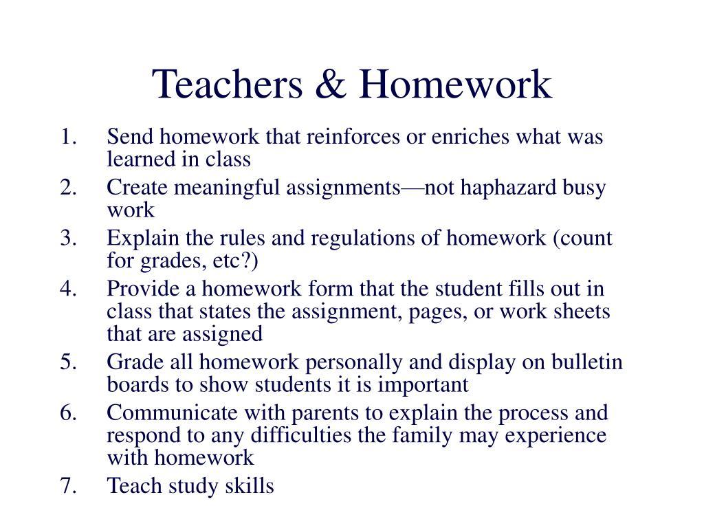 Teachers & Homework