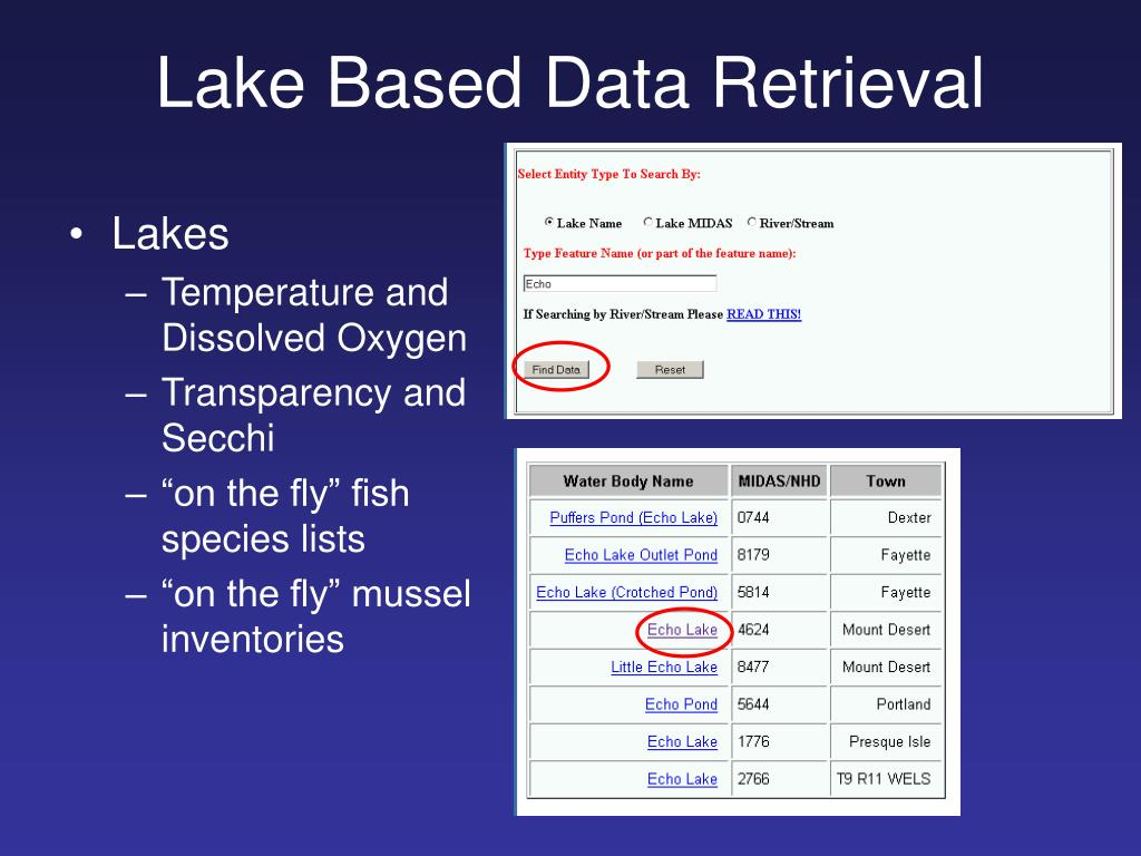Lake Based Data Retrieval