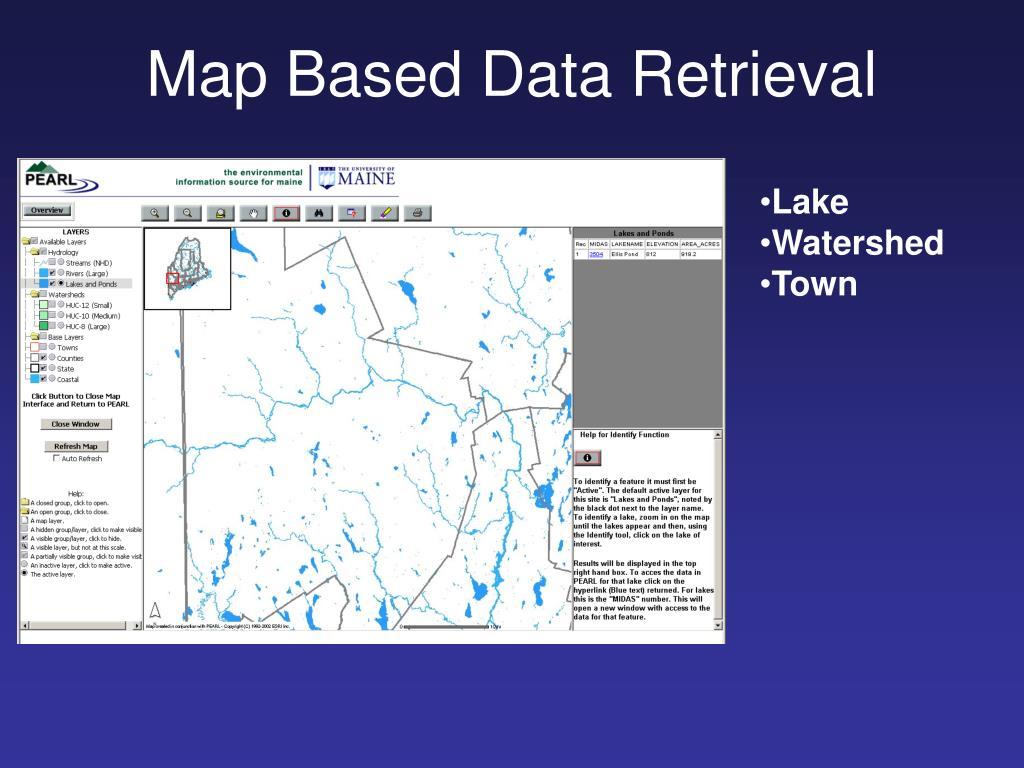 Map Based Data Retrieval