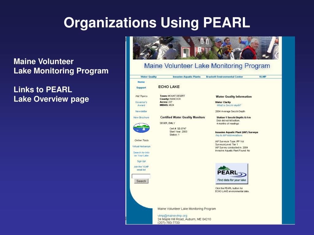 Organizations Using PEARL