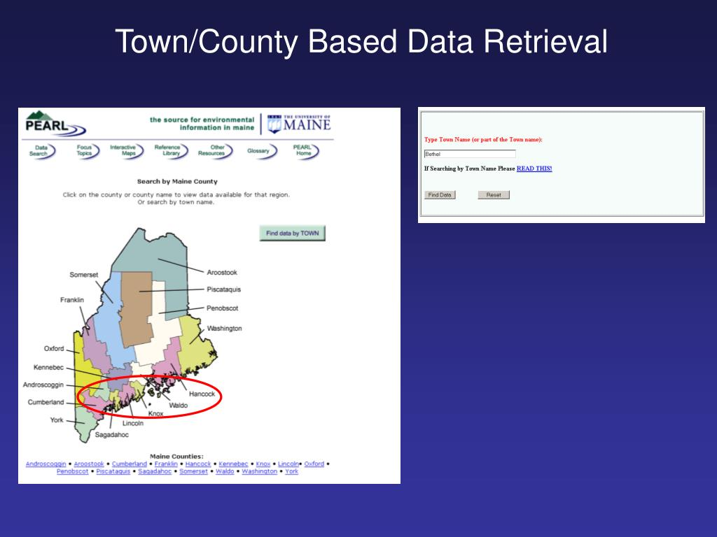 Town/County Based Data Retrieval