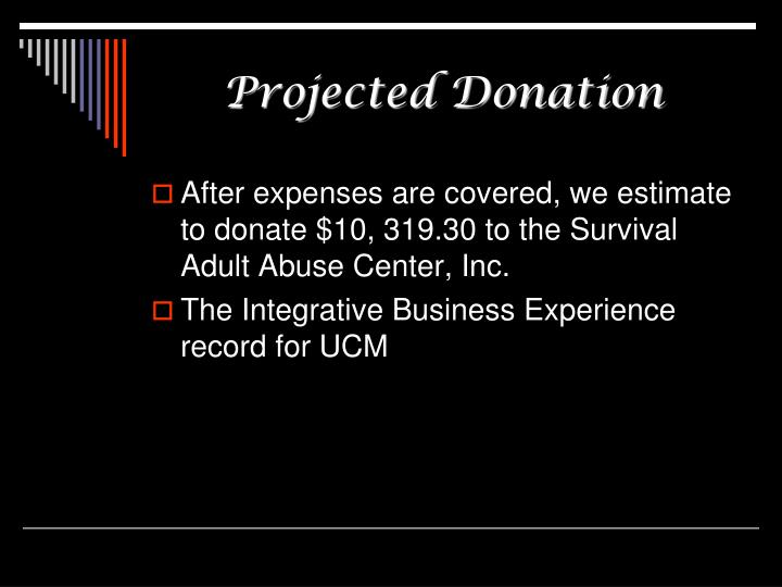 Projected Donation