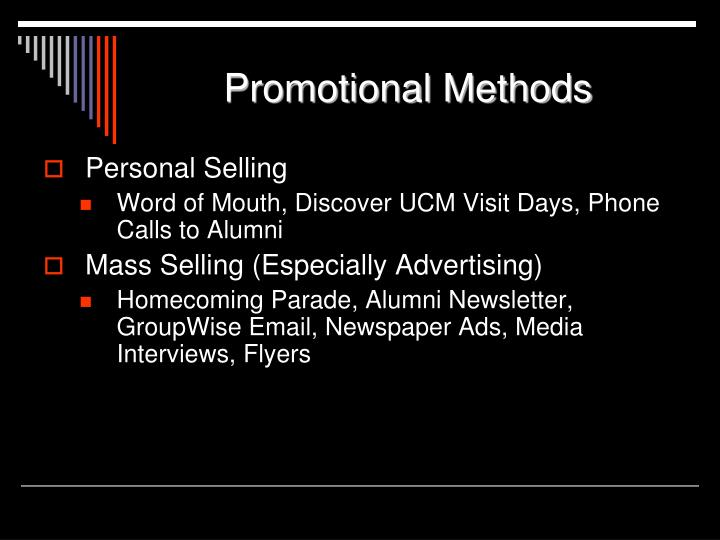 Promotional Methods
