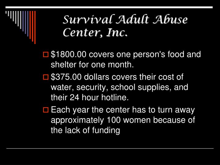Survival Adult Abuse Center, Inc.