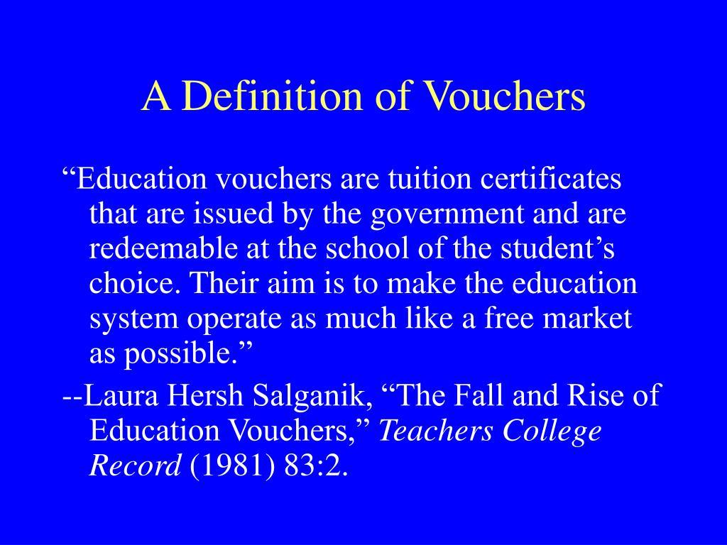 A Definition of Vouchers