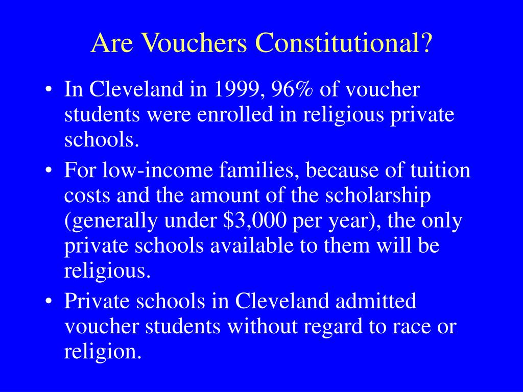 Are Vouchers Constitutional?