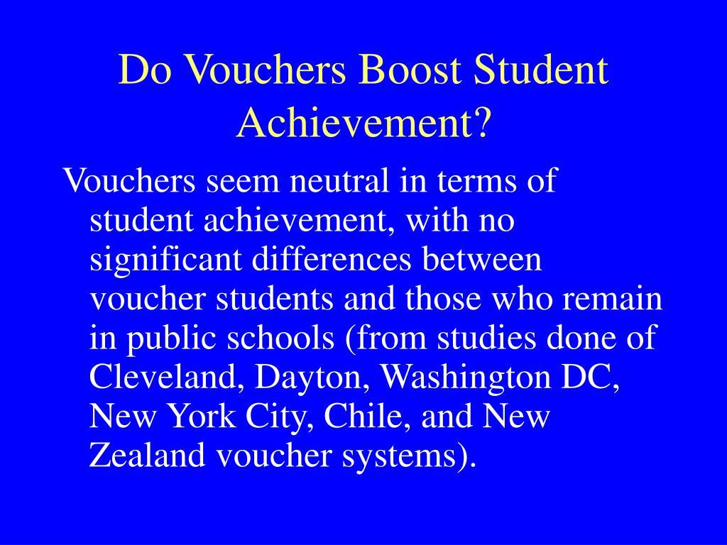 Do Vouchers Boost Student Achievement?