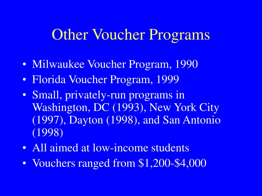 Other Voucher Programs