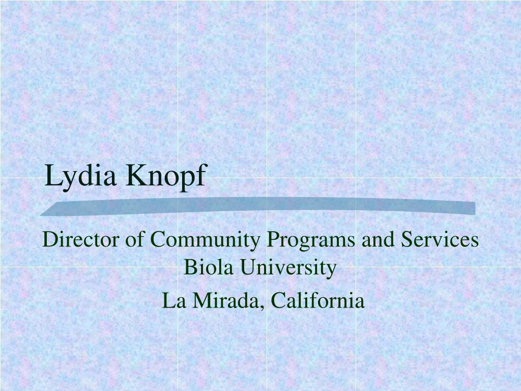 Lydia Knopf