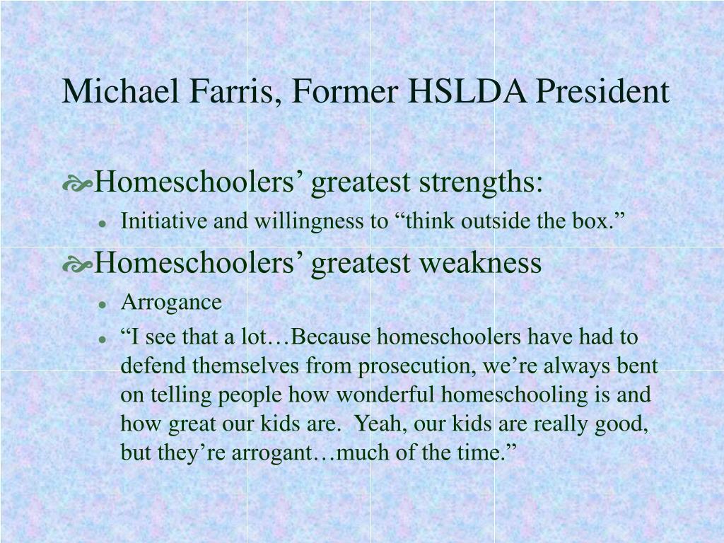 Michael Farris, Former HSLDA President