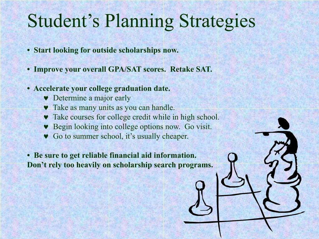 Student's Planning Strategies