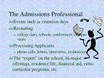 the admissions professional