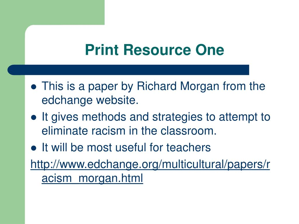 Print Resource One