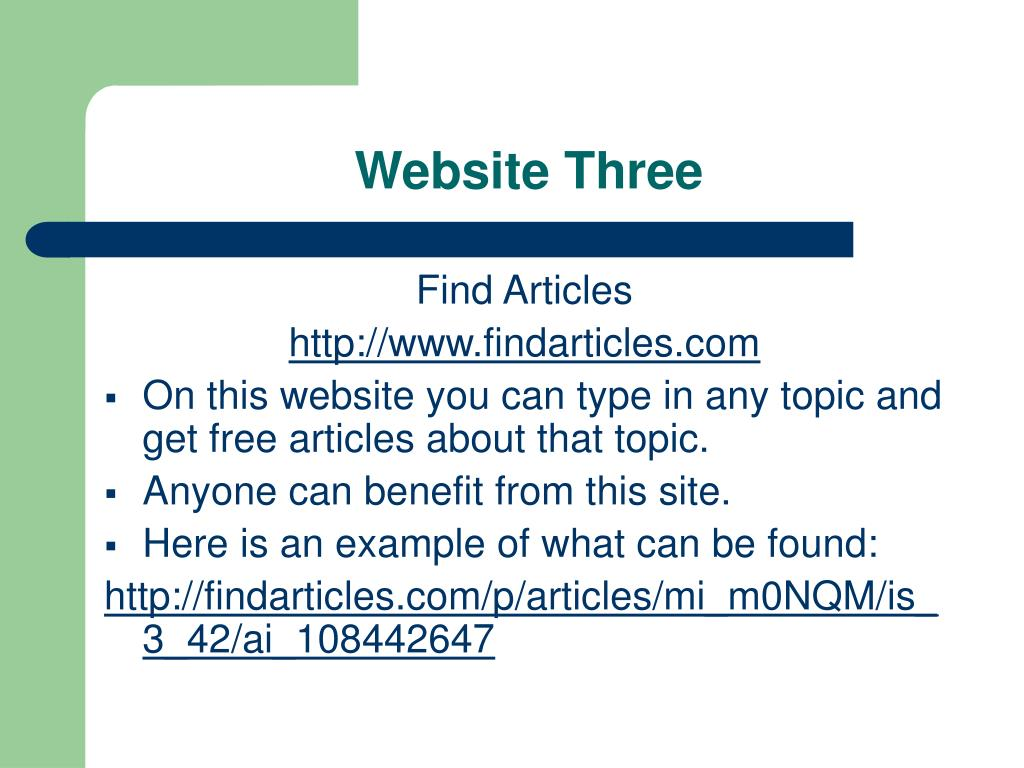 Website Three