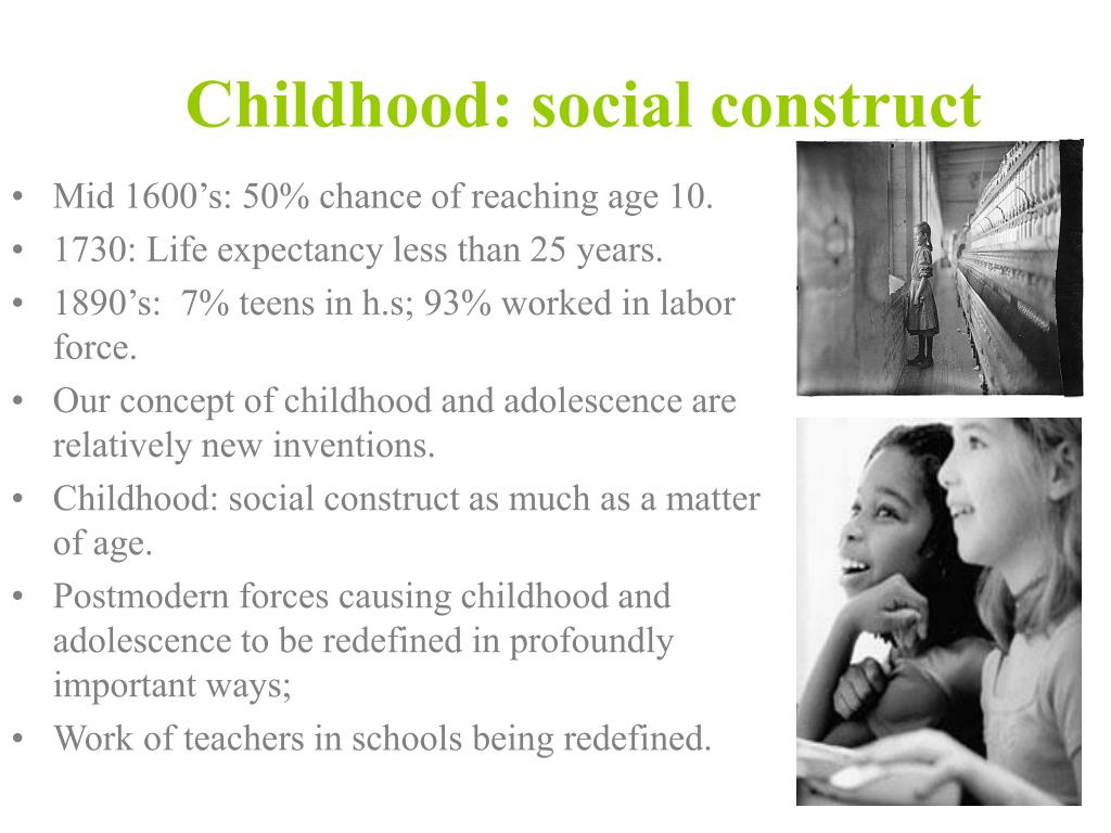 Childhood: social construct