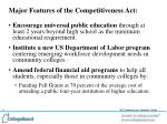 major features of the competitiveness act