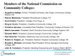 members of the national commission on community colleges