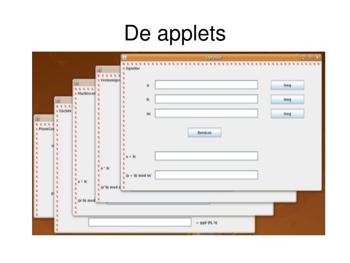De applets