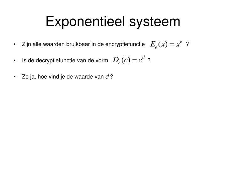 Exponentieel systeem