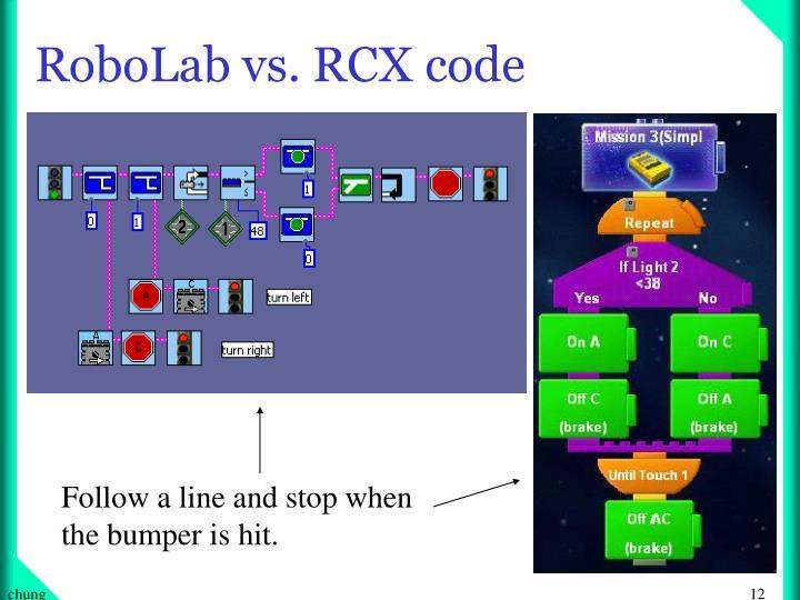 RoboLab vs. RCX code
