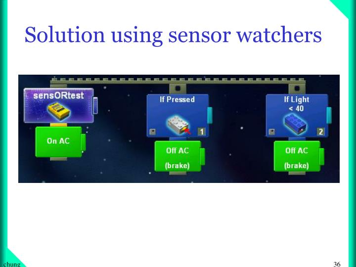 Solution using sensor watchers