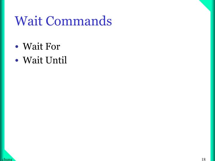 Wait Commands