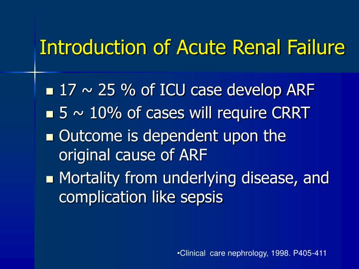 Introduction of Acute Renal Failure