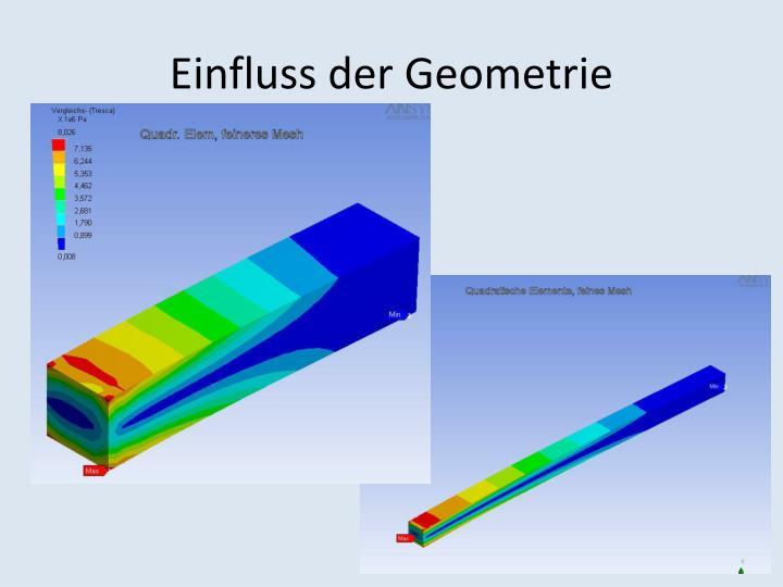 Einfluss der Geometrie