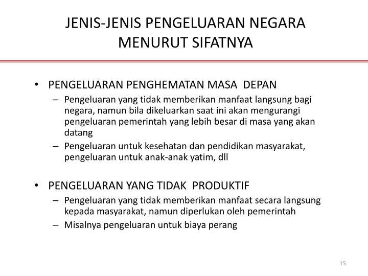 JENIS-JENIS PENGELUARAN NEGARA