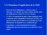 7 3 5 domaines d application de la mav