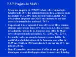 7 3 7 projets de mav
