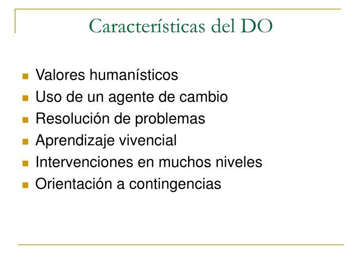 Características del DO