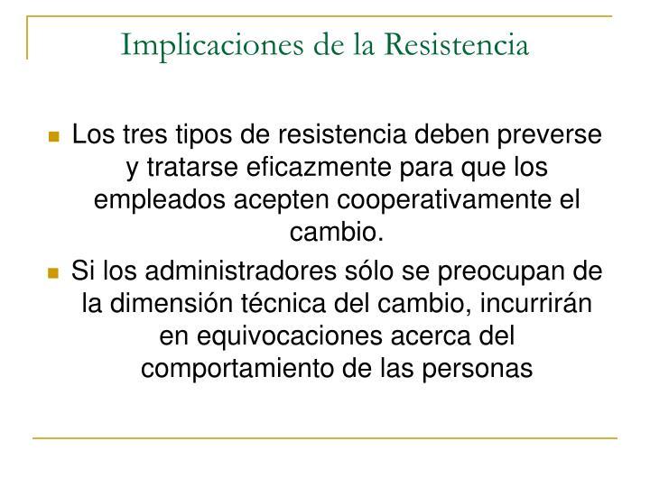 Implicaciones de la Resistencia