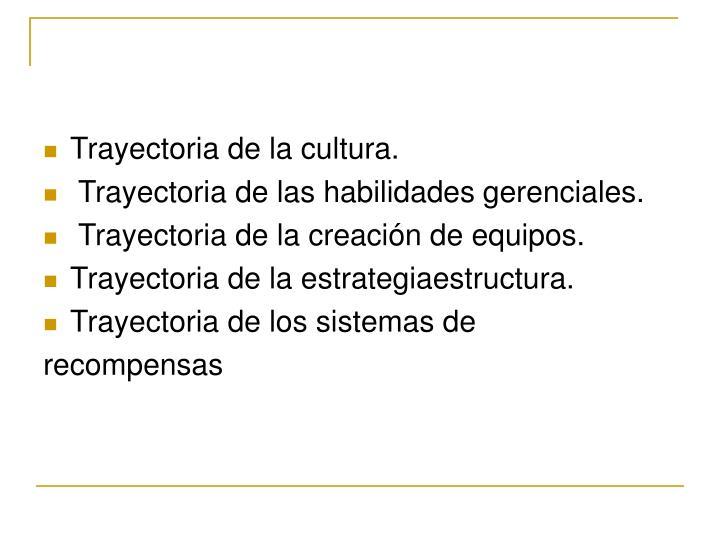 Trayectoria de la cultura.