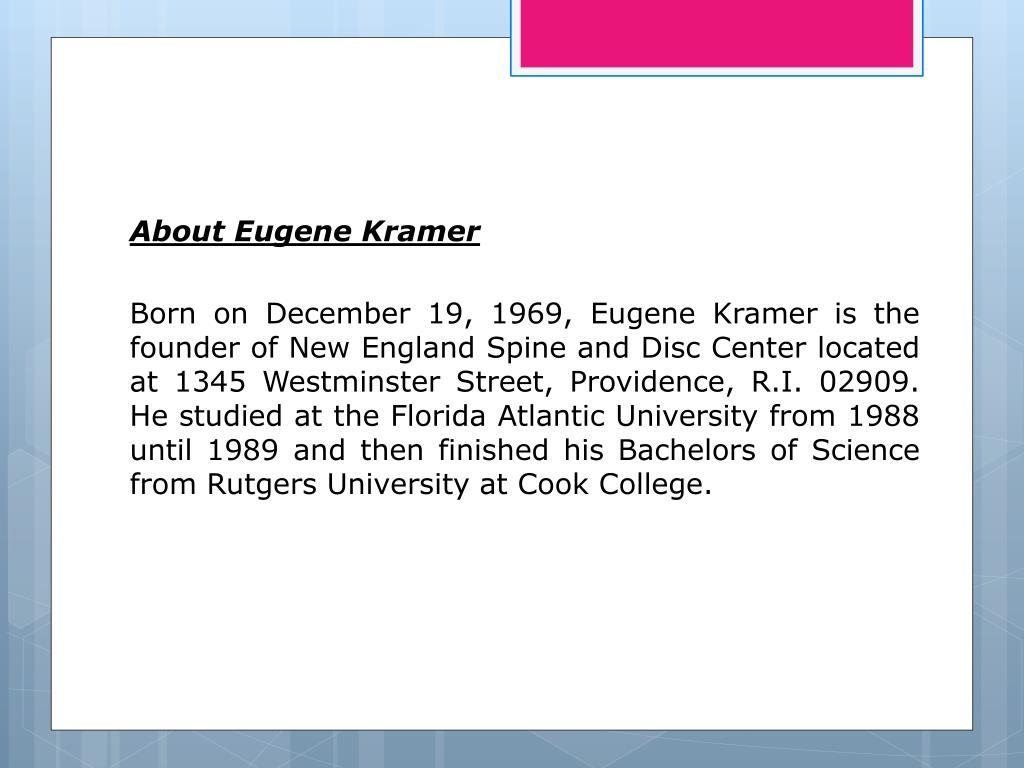 About Eugene Kramer