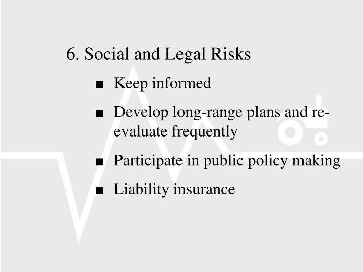 6.Social and Legal Risks