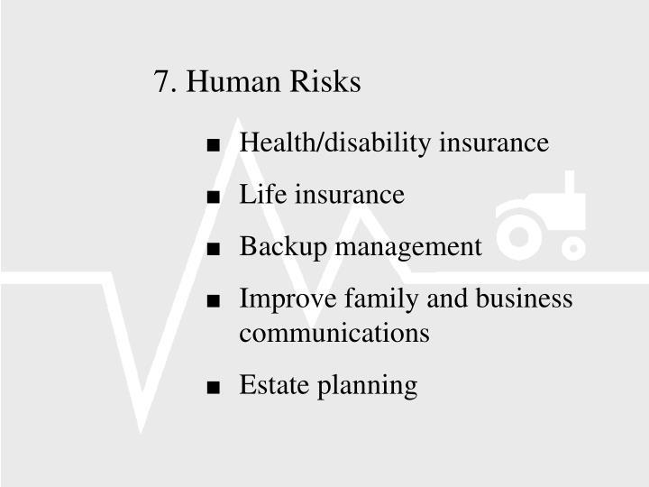 7.Human Risks